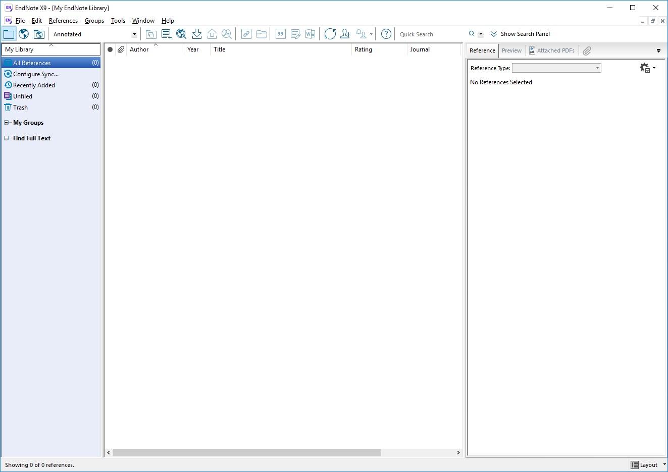 EndNote X9.3.1 Build 13758 - ENG