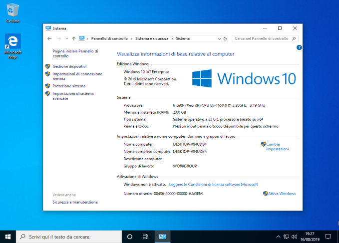 Microsoft Windows 10 IoT Enterprise v1903 AIO - Agosto 2019 - ITA