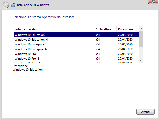 Microsoft Windows 10 Business Editions 2004 MSDN (Updated May 2020) - ITA