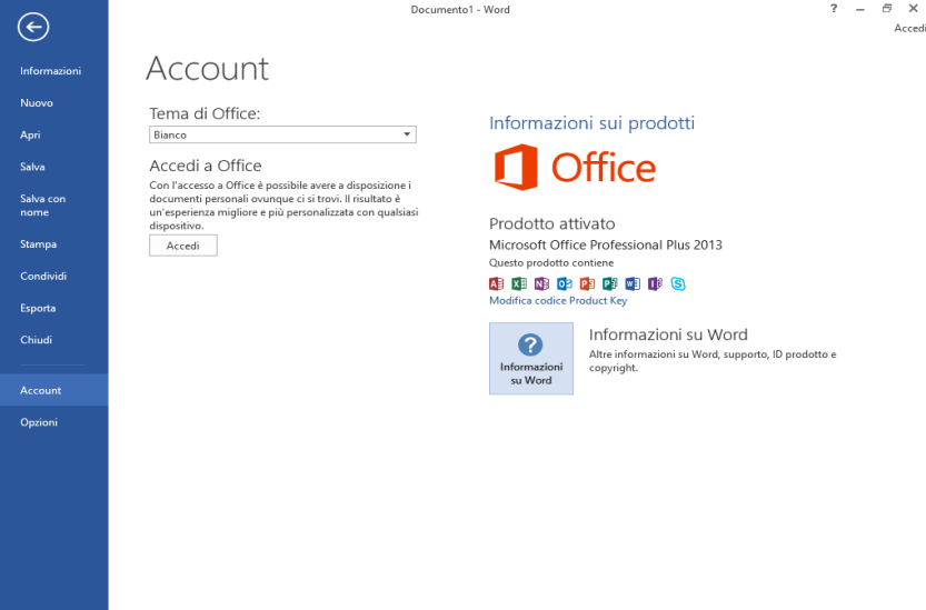 Microsoft Office Professional Plus 2013 VL Sp1 v15.0.5189.1000 Novembre 2019 - ITA