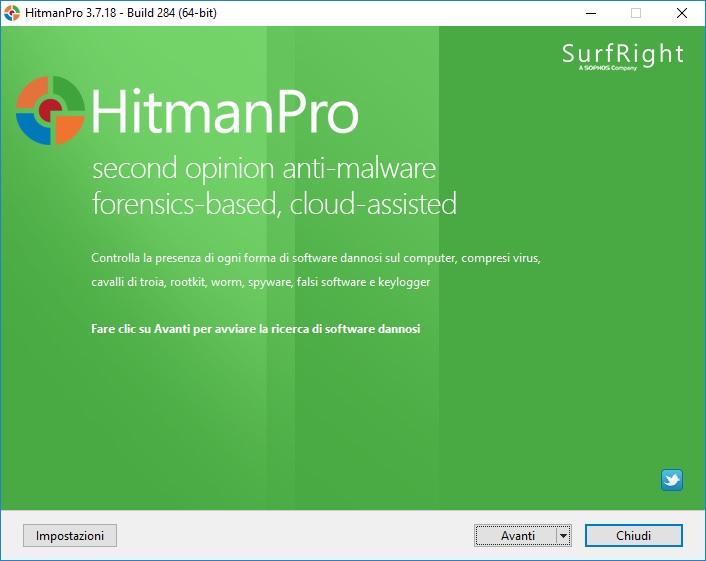 HitmanPro 3.8.11 Build 300 x64 - ITA