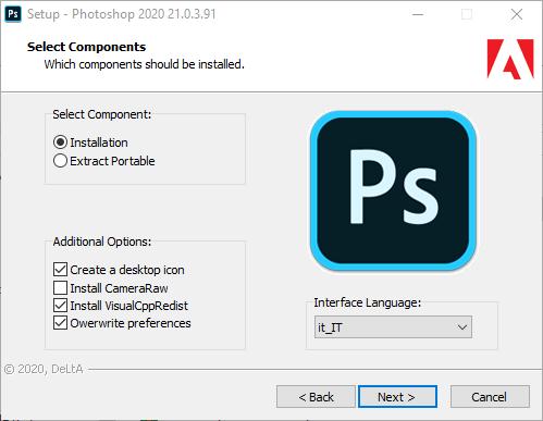 Adobe Photoshop 2020 v21.0.3.91 AIO (Preattivato   Portable)  64 Bit - ITA