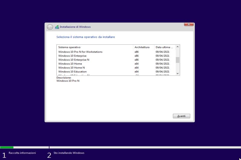 Microsoft Windows 10 20H2 AIO (24 Edizioni in 1 ISO) - Aprile 2021 - ITA