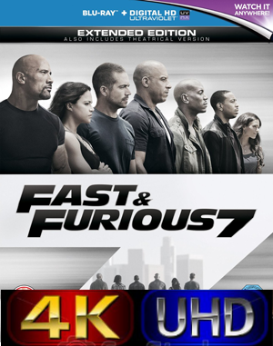 Fast And Furious 7 [EXTENDED] (2015).Mkv Ultra HD 4K 4096 x 2160 DTS ITA