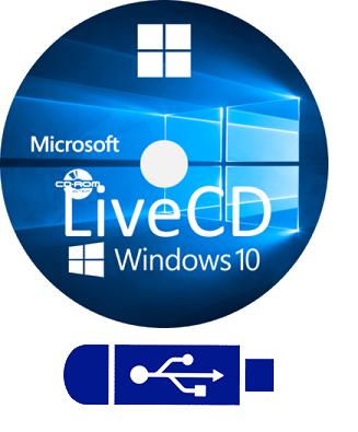 Microsoft Windows 10 v1903 WinPE LiveCD/USB (14.08.2019) - ENG