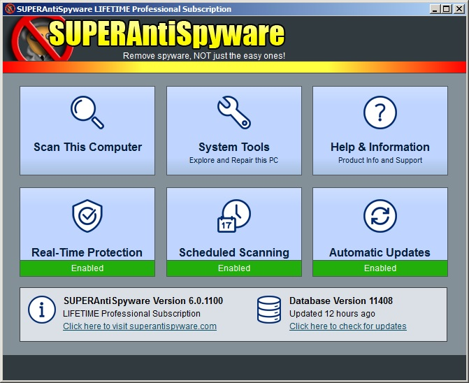 SUPERAntiSpyware Professional 8.0.1050 - ENG