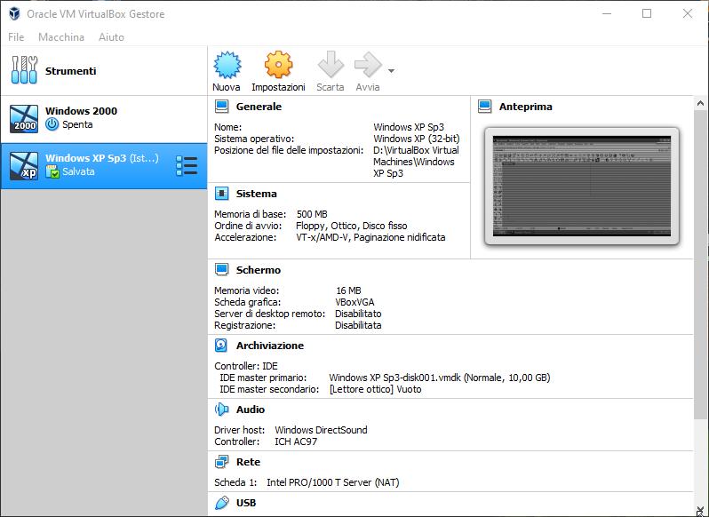 VirtualBox 6.1.2 Build 135663 con Extension Pack - ITA