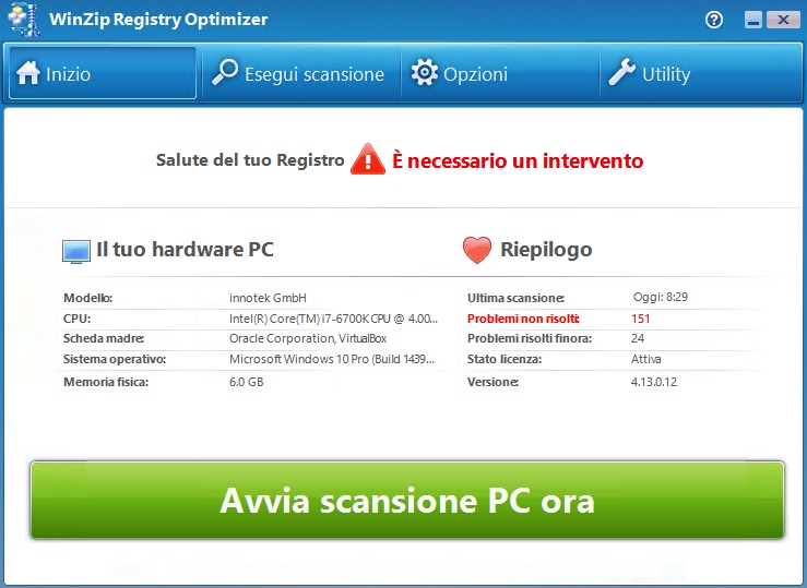 WinZip Registry Optimizer v4.22.0.26 - ITA