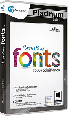 Summitsoft Avanquest Creative Fonts Platinum Edition v5.0 - Eng