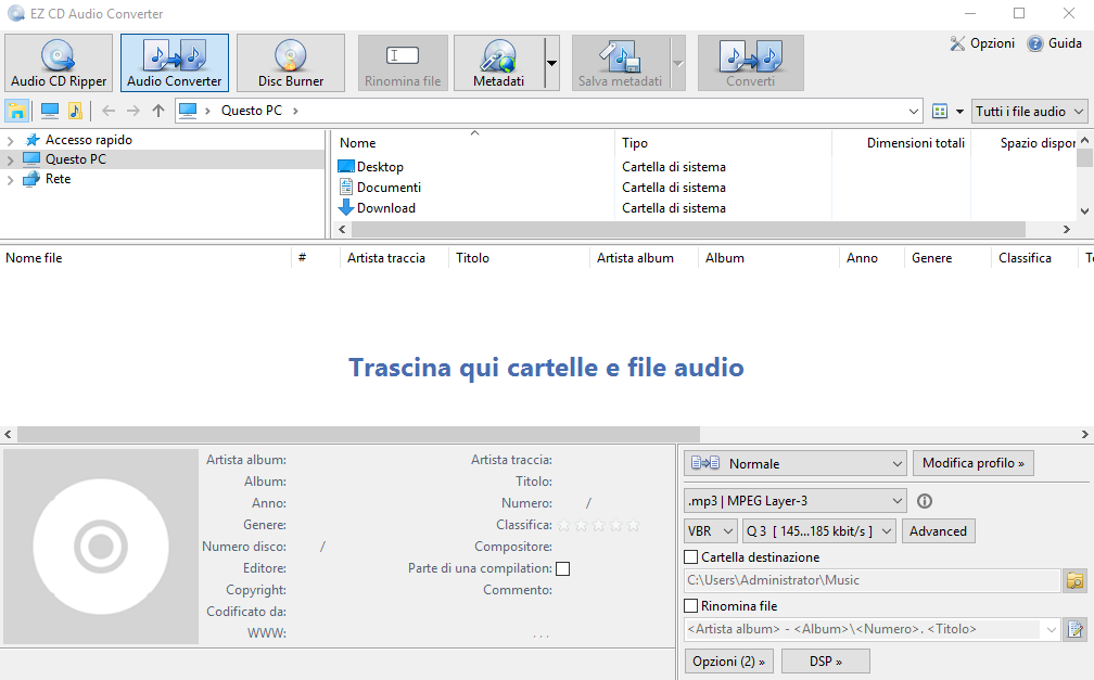 EZ CD Audio Converter v9.5.0.1 x86 - ITA