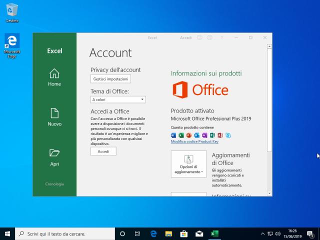 Microsoft Windows 10 Enterprise v1903 + Office 2019 Professional Plus - Giugno 2019 - ITA