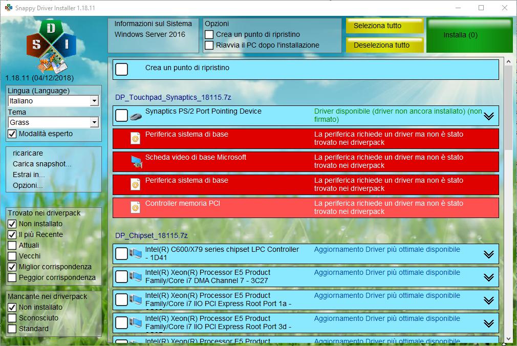 Snappy Driver Installer v1.19.9 (R1909)   DriverPack's v19112 - ITA