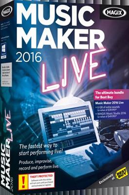 MAGIX Music Maker 2016 Live v22.0.3.63 + Content Pack - Ita