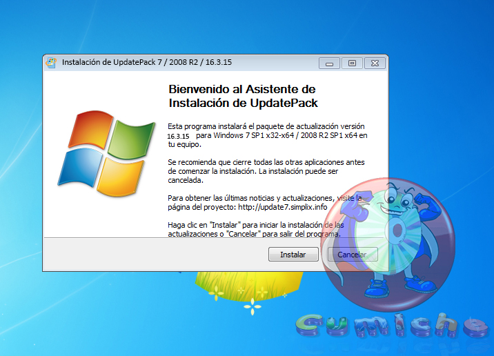 UpdatePack7R2 15.3.16  para Windows 7 SP1 y Server 2008 R2 SP1