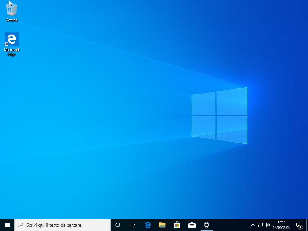 Microsoft Windows 10 Pro v1903 - Ottobre 2019 - ITA