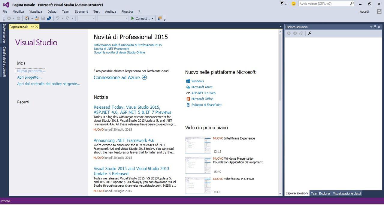 Visual Studio Professional 2015 Update 1 MSDN DOWNLOAD ITA