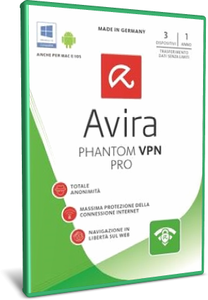 Avira Phantom VPN Pro v2.33.3.30309 Preattivato - ITA