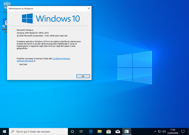 Microsoft Windows 10 Pro v2004 (20H1) All-In-One - ITA