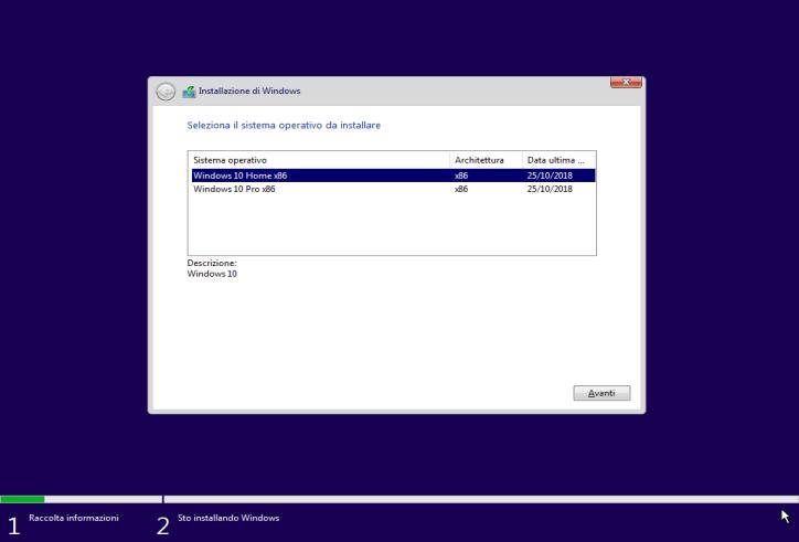 Microsoft Windows 10 Home   Pro v1809 Aio (2 in 1) - Ottobre 2018 - ITA