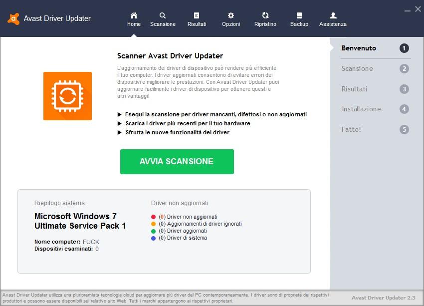 Avast Driver Updater 2.5.6 - ITA