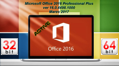 Office 2016 Professional Plus VL v16.0.4498.1000 AIO DOWNLOAD ITA – Marzo 2017