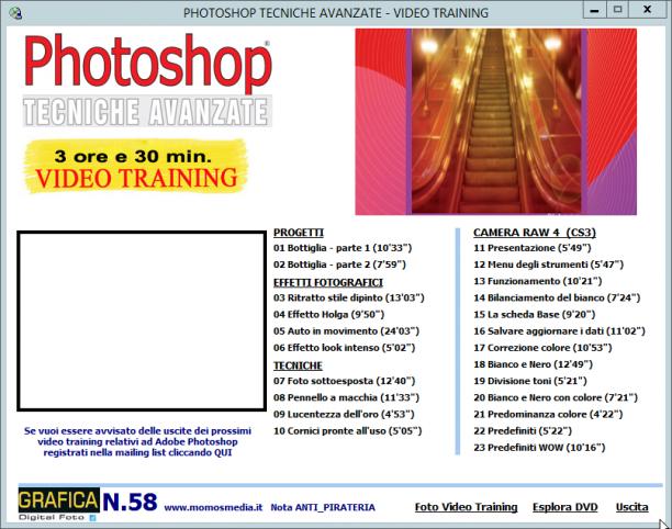 GDF Photoshop N.58  - VideoCorso Speciale Ritocco fotografico - ITA