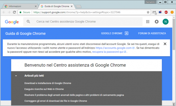 Google Chrome 72.0.3626.109 - ITA