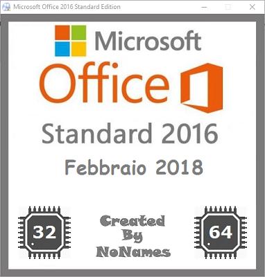 Microsoft Office Standard 2016 All-In-One v16.0.4654.1000 Febbraio 2018 - ITA