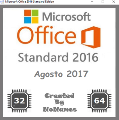 Microsoft Office Standard 2016 All-In-One v16.0.4549.1000 Agosto 2017 - ITA