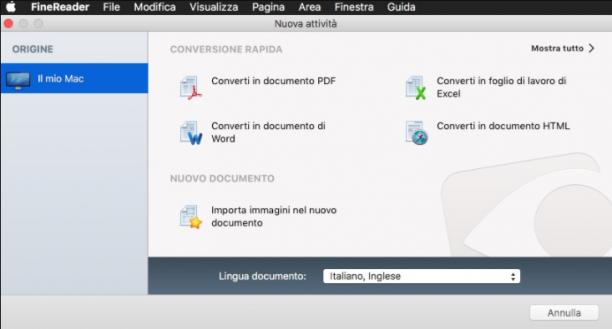 [MAC] ABBYY FineReader OCR Pro 12.1.11 MacOSX - ITA