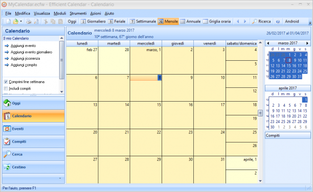 [PORTABLE] Efficient Calendar 5.50 Build 540 Portable - ITA