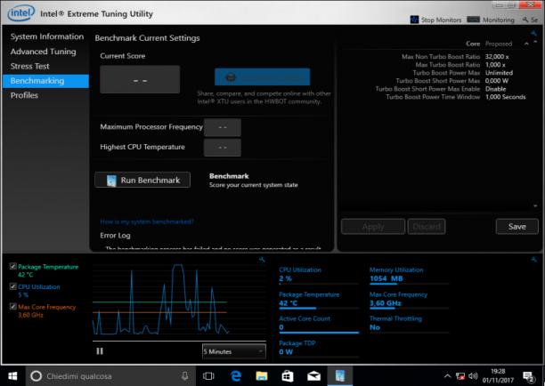 Intel Extreme Tuning Utility (Intel XTU) 6.4.1.15 - ENG