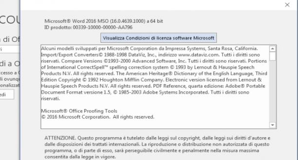 Microsoft Office Professional Plus 2016 VL v16.0.4849.1000 - Maggio 2019 - Ita