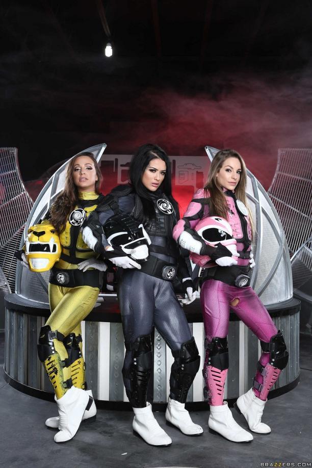 Abigail Mac, Katrina Jade, Kimmy Granger – Power Bangers A XXX Parody Part 5 (2017) – +18
