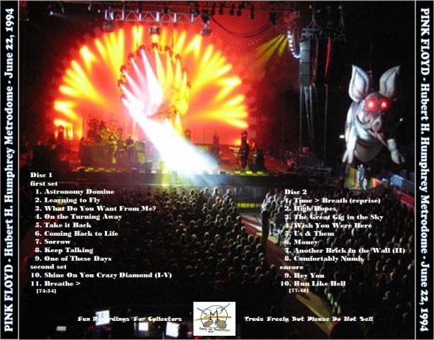 Pink Floyd live in Humphrey Metrodome (Minneapolis) (1994) Mp3