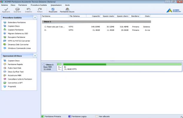 AOMEI Partition Assistant 8.7 Technician BootCD - ITA