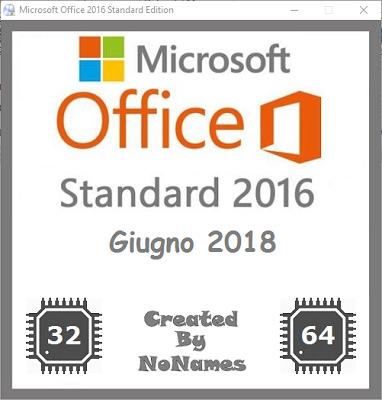 Microsoft Office Standard 2016 All-In-One v16.0.4639.1000 Giugno 2018 - ITA