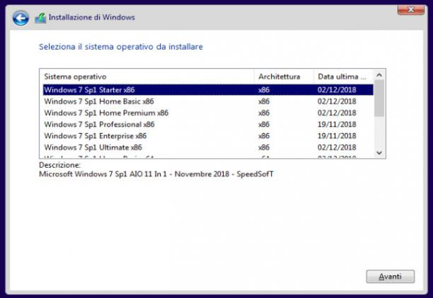 Microsoft Windows 7 Sp1 AIO 11 in 1 - Febbraio 2019 - Ita