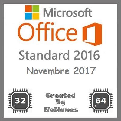 Microsoft Office Standard 2016 v16.0.4549.1000 All-In-One Novembre 2017 - ITA