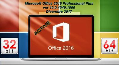 Microsoft Office Professional Plus 2016 VL v16.0.4549.1000 AIO Dicembre 2017 - ITA