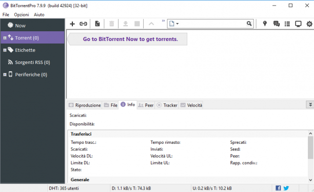 BitTorrent Pro v7.10.5 Build 45416 - ITA