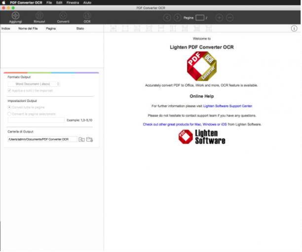 [MAC] Lighten PDF Converter OCR v6.2.1 macOS - ITA