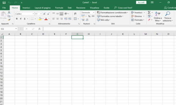 Microsoft Excel VL 2019 - 1912 (Build 16.0.12325.20298) - Ita