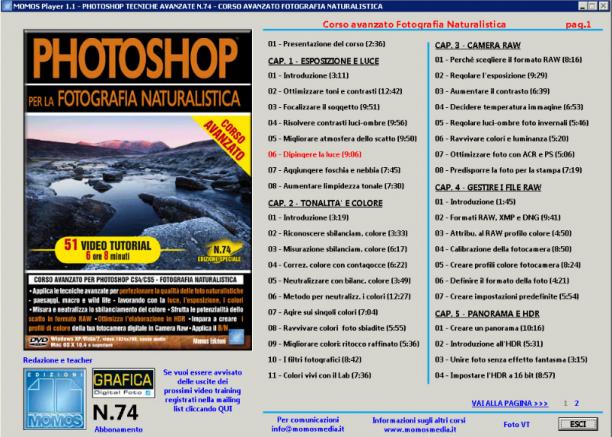 GDF Photoshop N.71 - VideoCorso Avanzato Photoshop Fotografia Naturalistica - ITA