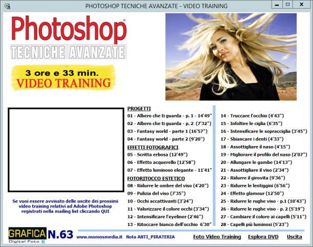 GDF Photoshop N.63 - VideoCorso Photoshop Speciale Fotoritocco Estetico - ITA