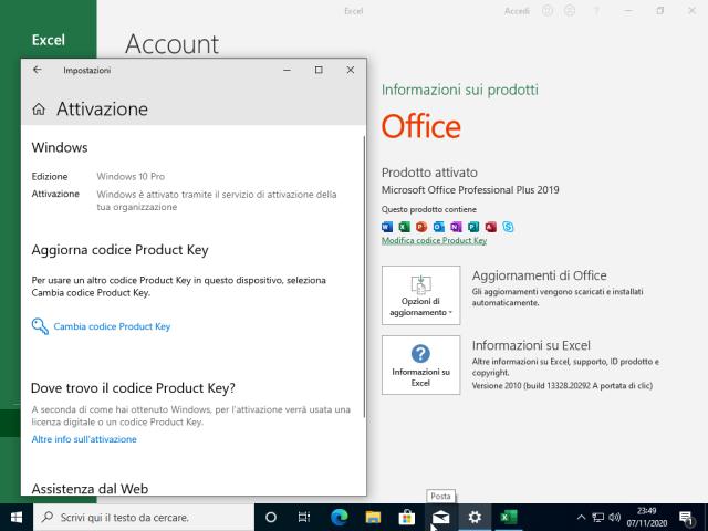 Microsoft Windows 10 Pro 20H2 + Office 2019 Professional Plus - Ottobre 2020 - ITA