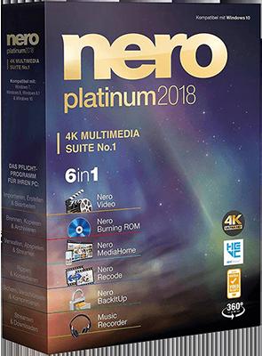 Nero Platinum 2018 Suite v19.0.10200 + Content Pack - Ita
