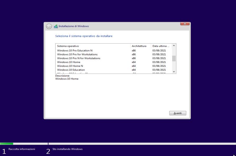 Microsoft Windows 10 21H1 AIO (24 Edizioni in 1 ISO) - Agosto 2021 - ITA
