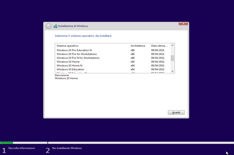 Microsoft Windows 10 21H1 AIO (24 Edizioni in 1 ISO) - Maggio 2021 - ITA