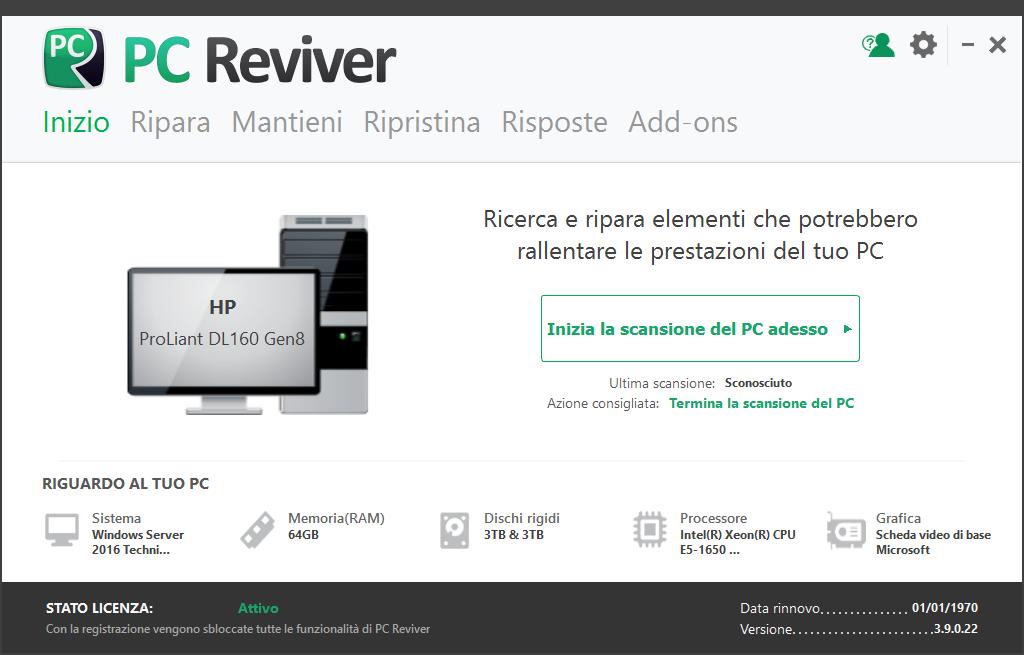 ReviverSoft PC Reviver 3.9.0.24 - ITA